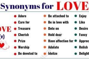LOVE Synonym: 50+ Interesting Synonyms for LOVE 9