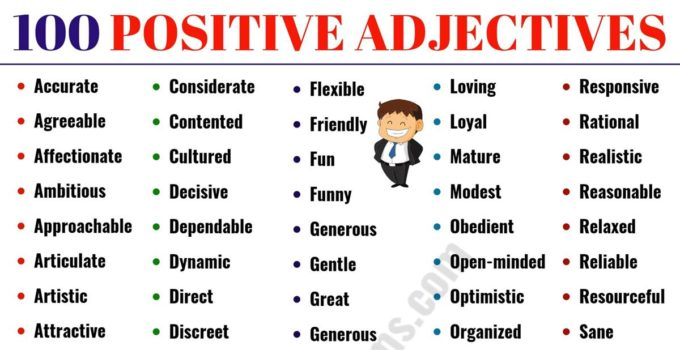 Positive Adjectives: List of 100+ Important Positive Adjectives from A-Z 8
