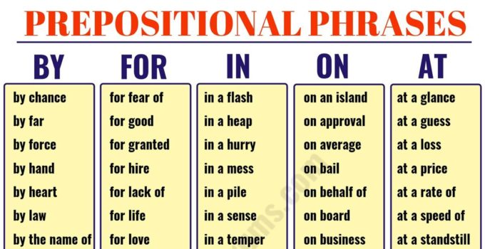 Prepositional Phrase: List of Useful Prepositional Phrases in English 6