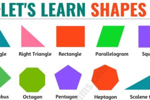 Shapes Names: List of 20 Important Basic Shapes Names with ESL Pictures 52