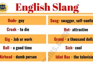 Slang Words: List of 100 Common Slang Words & Phrases You Need to Know! 11