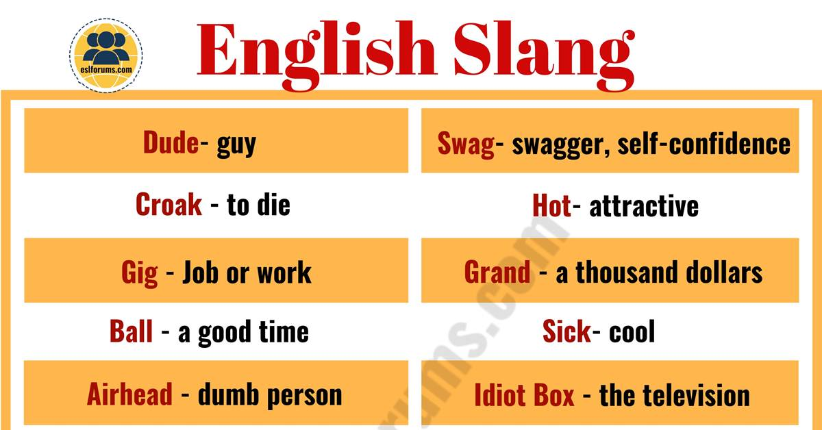 Slang Words: List of 100 Common Slang Words & Phrases You Need to Know! 2
