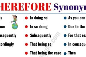 THEREFORE Synonym: 36 Useful Synonyms for THEREFORE 8