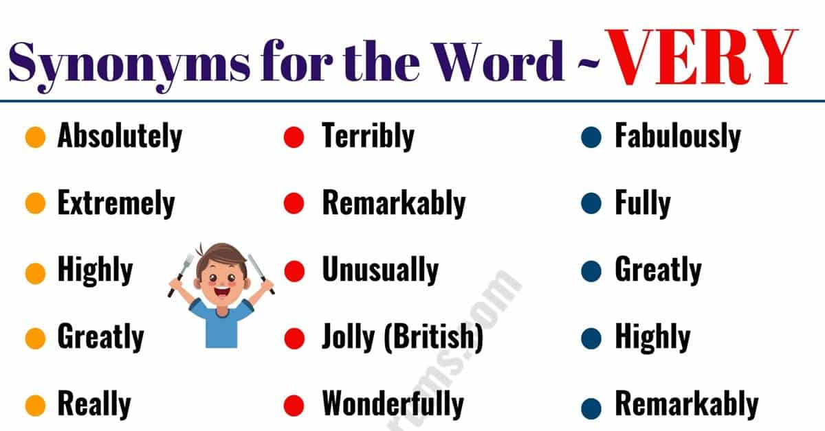 VERY Synonym: 45 Helpful Words to Use Instead of VERY 1