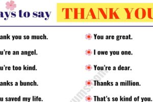 41 Creative Ways to Say THANK YOU | THANK YOU Synonym List 7