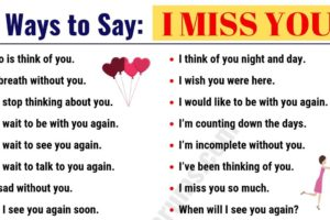 30 Romantic Ways to Say I MISS YOU! in English 6