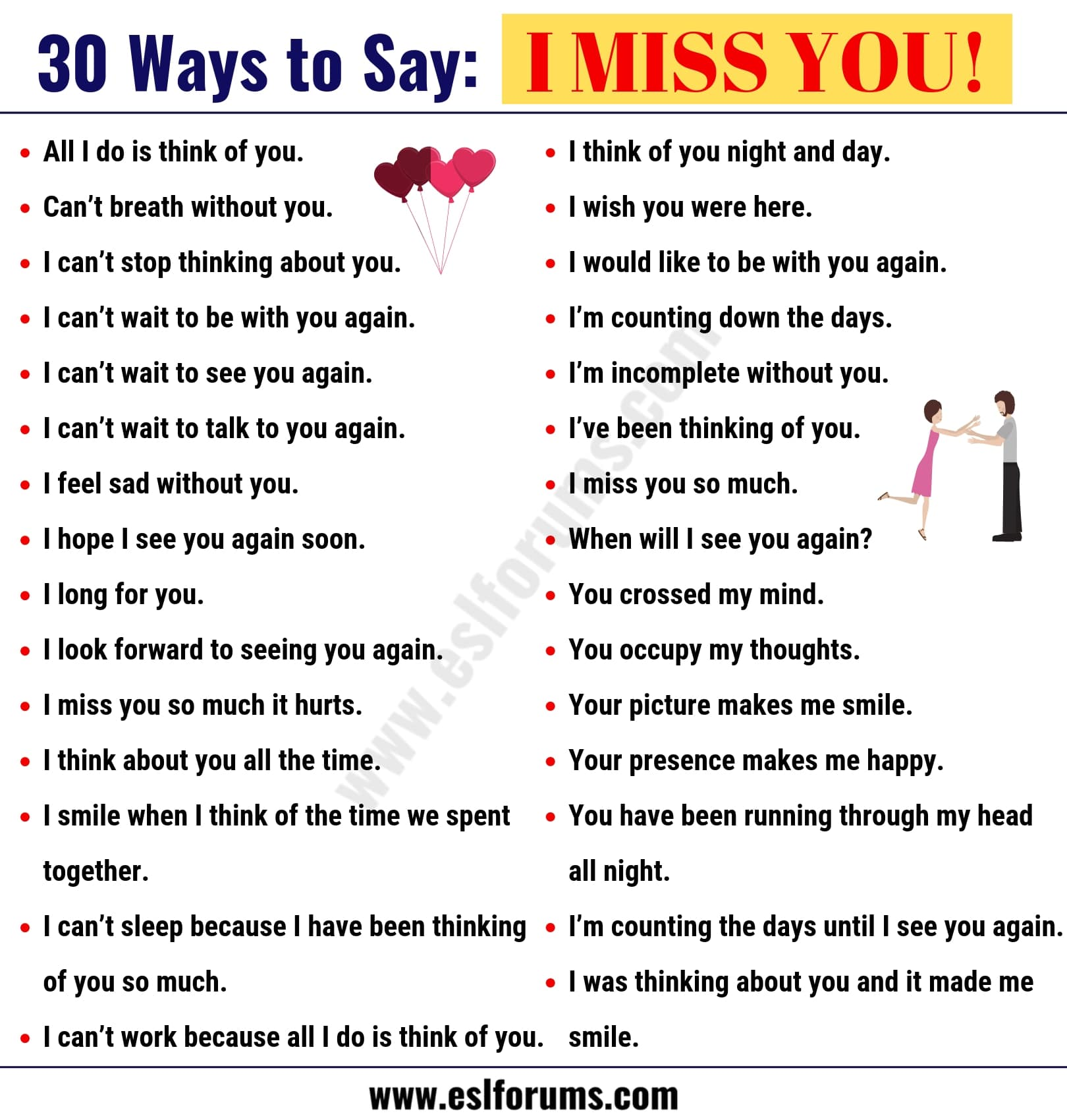 I Miss you Quotes: 30 Romantic Ways to Say I MISS YOU! in ...