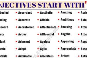 50 Positive Adjectives That Start with A You Might not Know! 39