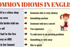 Top 60 Interesting Idioms for Kids with their Meaning! 19