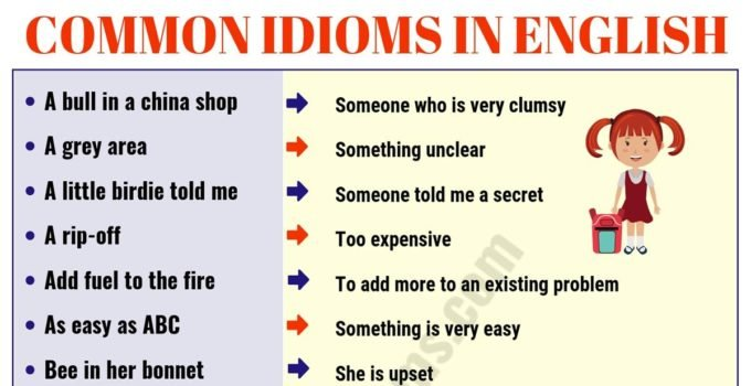 Top 60 Interesting Idioms for Kids with their Meaning! 14