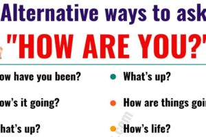 """HOW ARE YOU?"" 