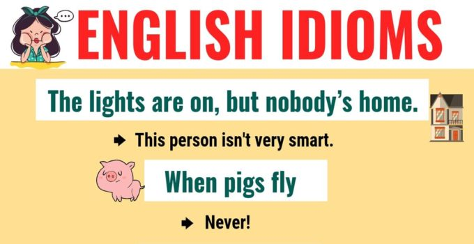 Top 20 Funny Idioms in English You Might Not Know! 10