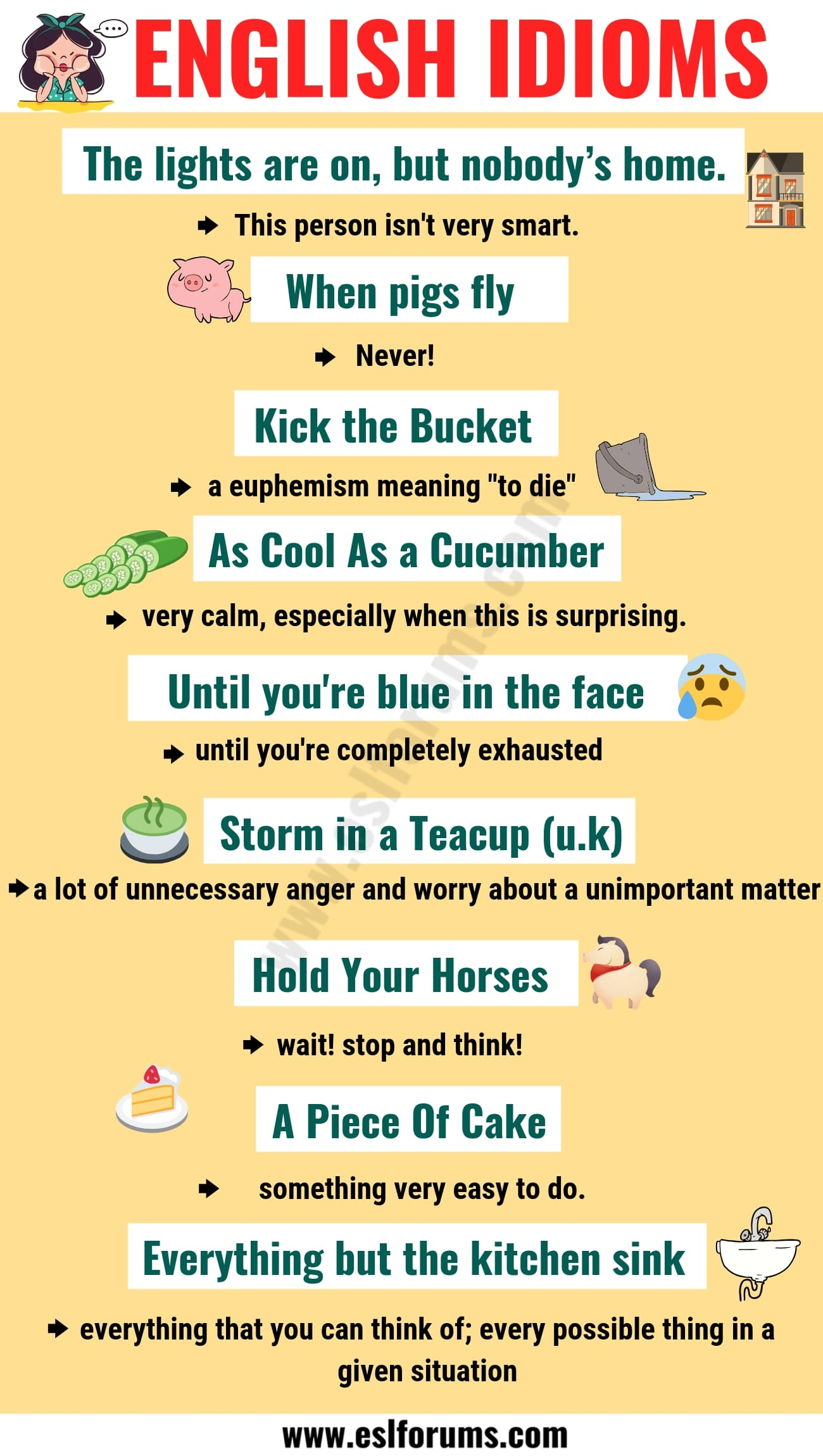 Top 20 Funny Idioms in English You Might Not Know!