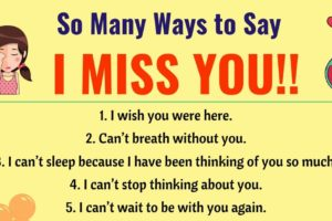 I Miss you Quotes: 30 Romantic Ways to Say I MISS YOU! in English 13