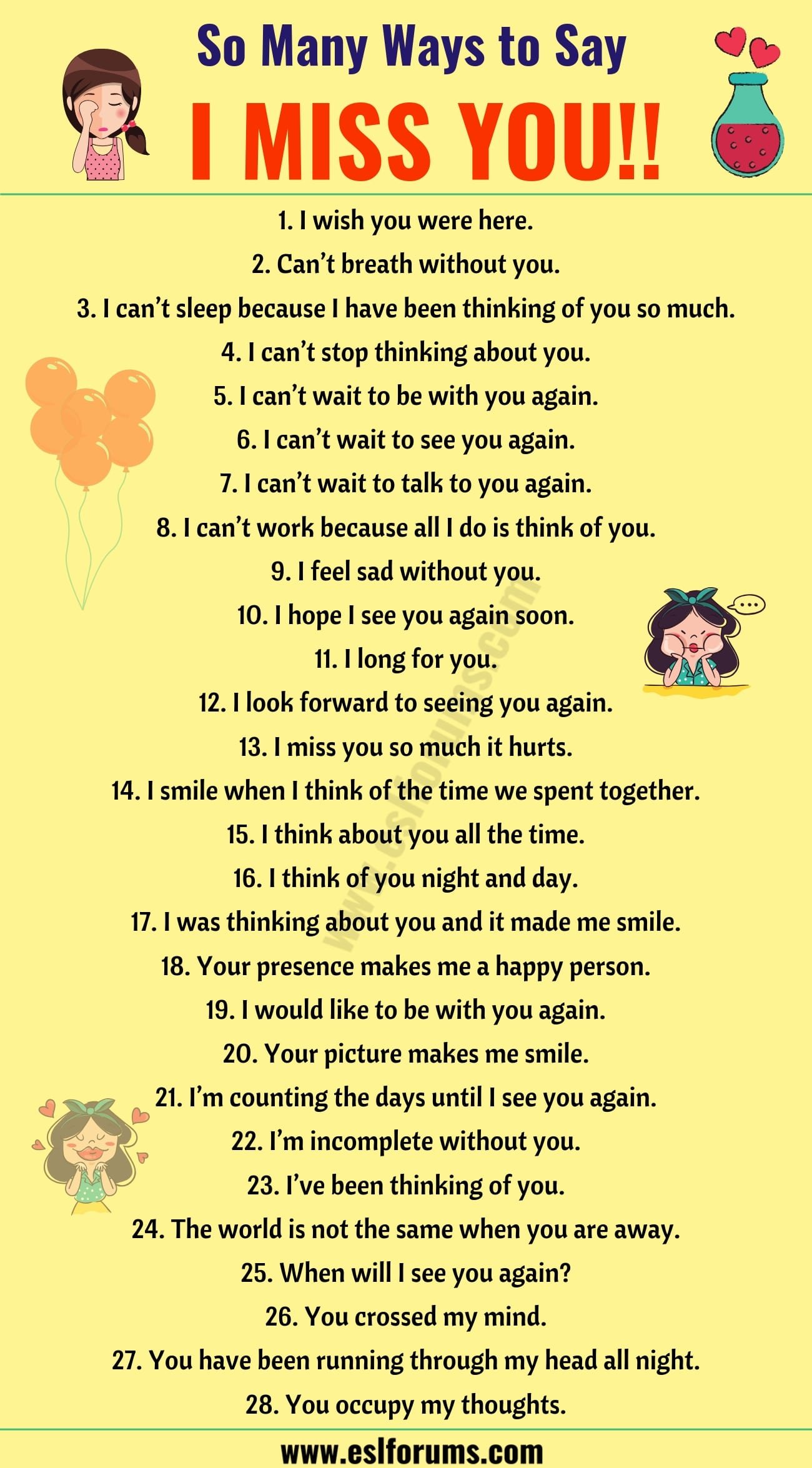 I Miss you Quotes: 30 Romantic Ways to Say I MISS YOU! in English