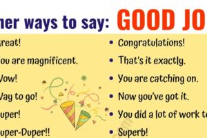 GOOD JOB! 48 Fantastic Ways to Say Good Job! 10