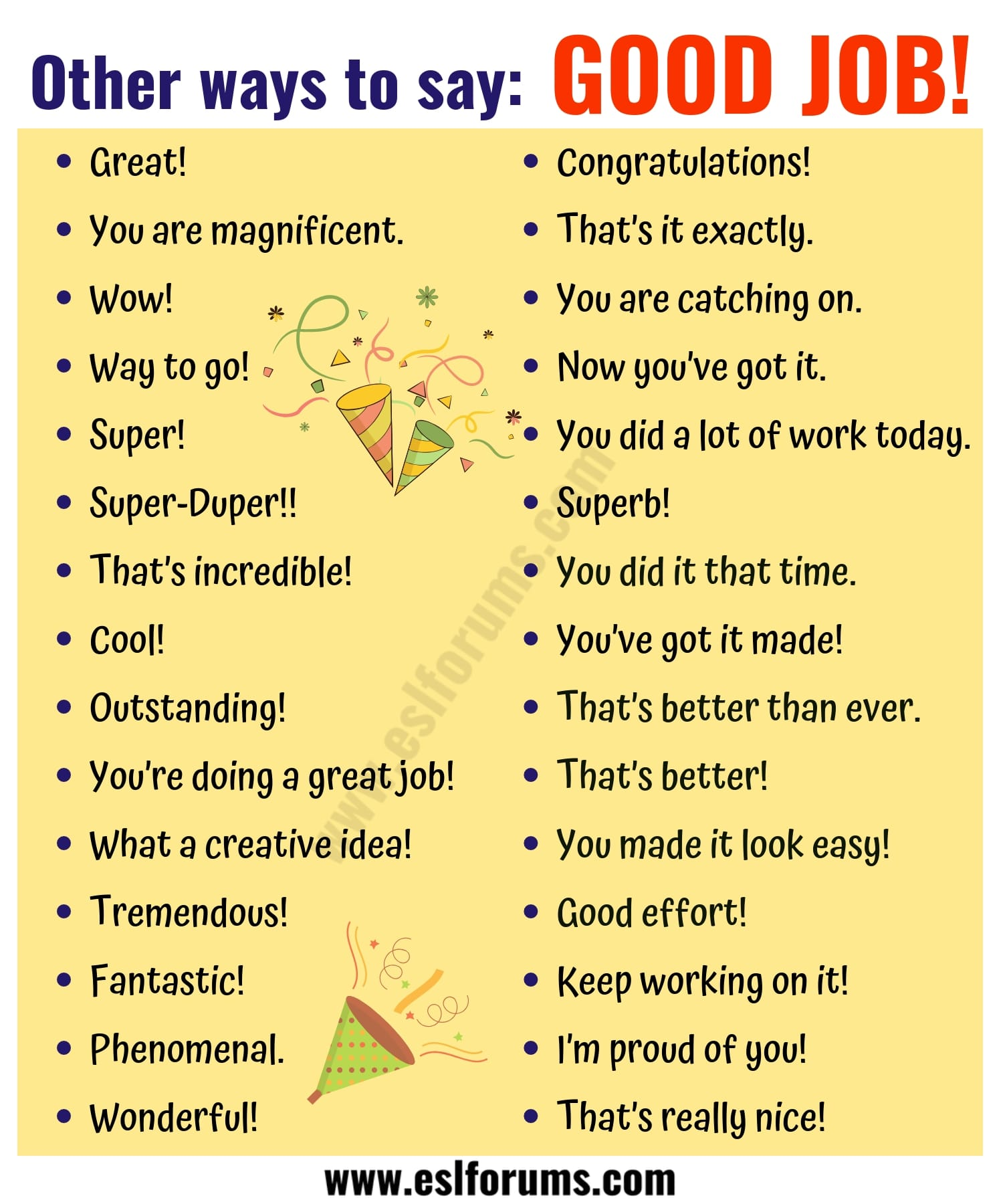GOOD JOB Synonym: 48 Fantastic Ways to Say GOOD JOB!