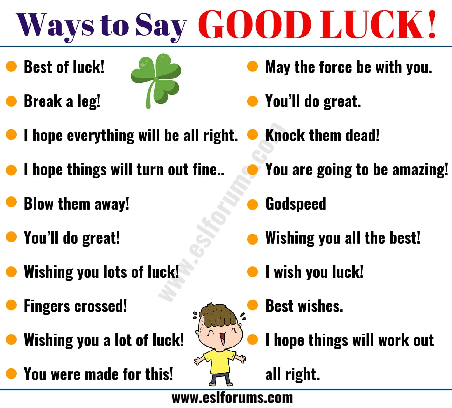 "GOOD LUCK! | 19 Power Ways to Say ""GOOD LUCK!"""