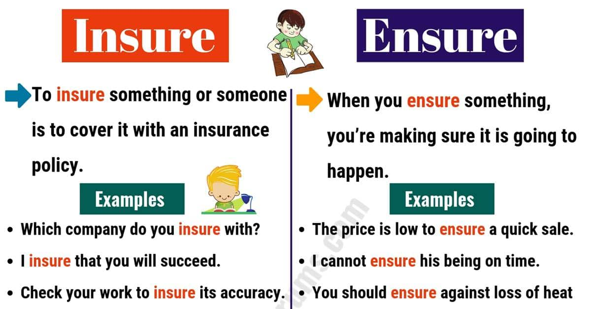 INSURE vs ENSURE: What are the Differences? 7