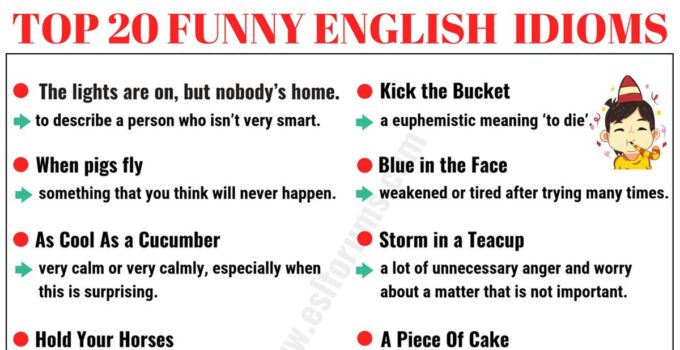 Top 20 Funny Idioms in English You Might Not Know! 5