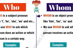 WHO vs WHOM: Useful Usage and Example Sentences 13