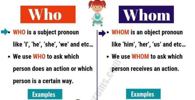 WHO vs WHOM: Useful Usage and Example Sentences 9