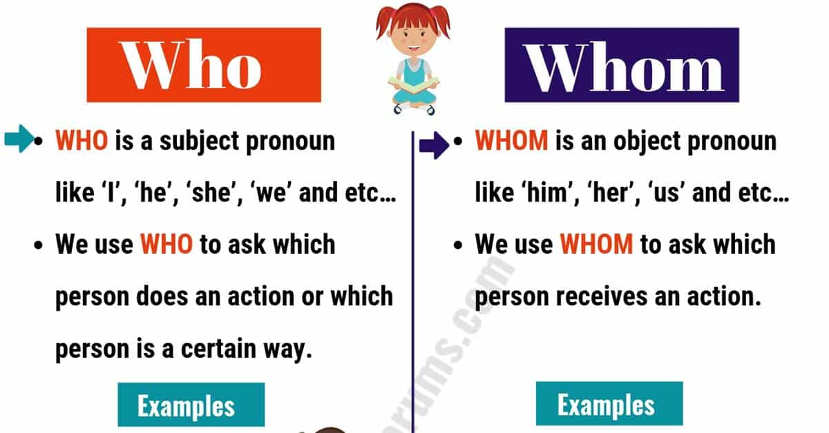 WHO vs WHOM: Useful Usage and Example Sentences 1