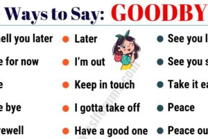20 Funny Ways to Say GOODBYE in English! 11