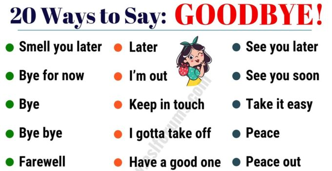20 Funny Ways to Say GOODBYE in English! 6