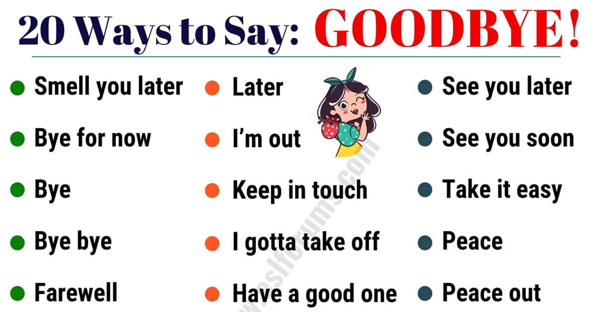 20 Funny Ways to Say GOODBYE in English! 1