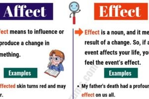AFFECT vs EFFECT Difference: It's not As Hard As We Think! 9