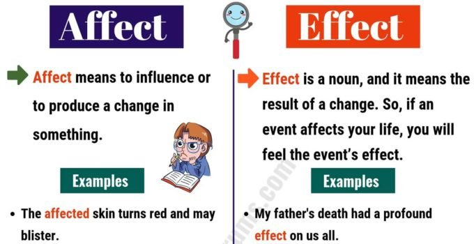 AFFECT vs EFFECT Difference: It's not As Hard As We Think! 1