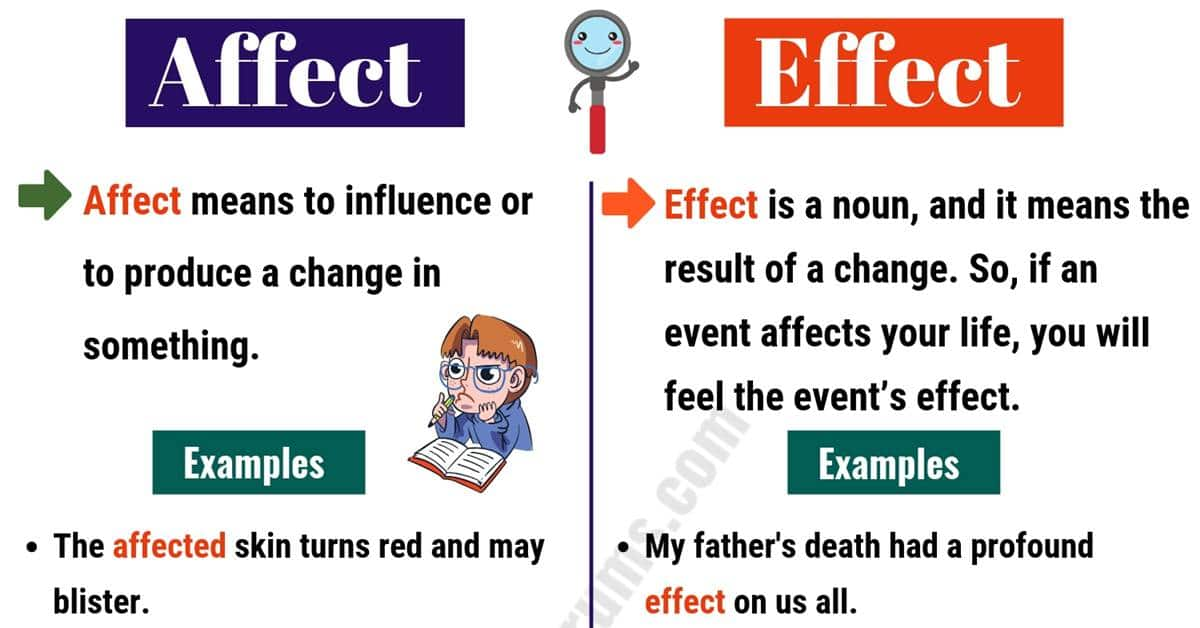 Affect Vs Effect Difference It S Not As Hard As We Think Esl