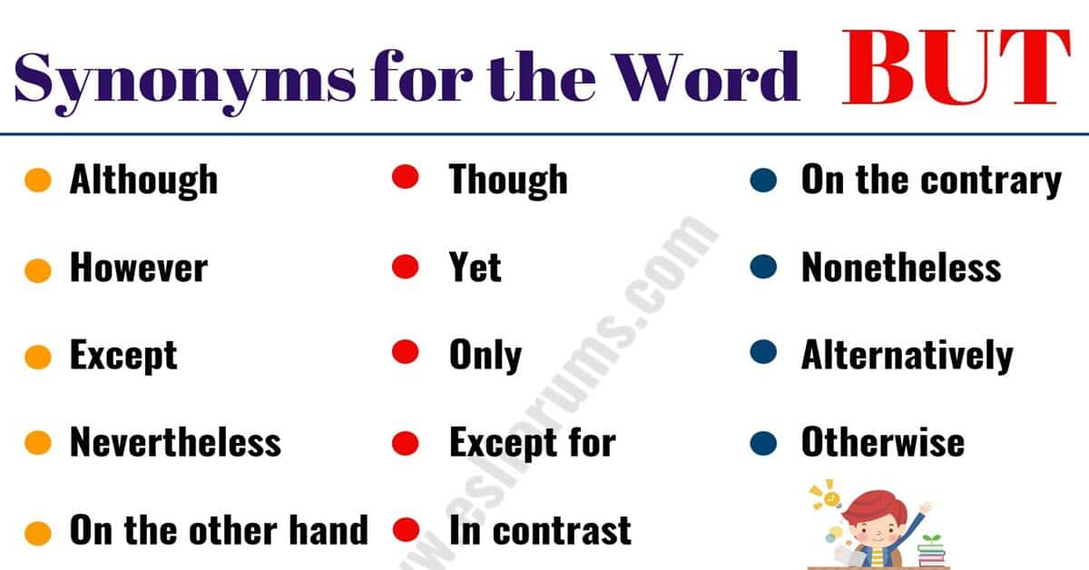Another Word for BUT: 16 Alternative Ways to Say BUT with Examples 1