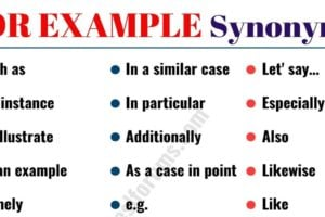 FOR EXAMPLE Synonym: 20 Useful Synonyms for FOR EXAMPLE with Examples 16