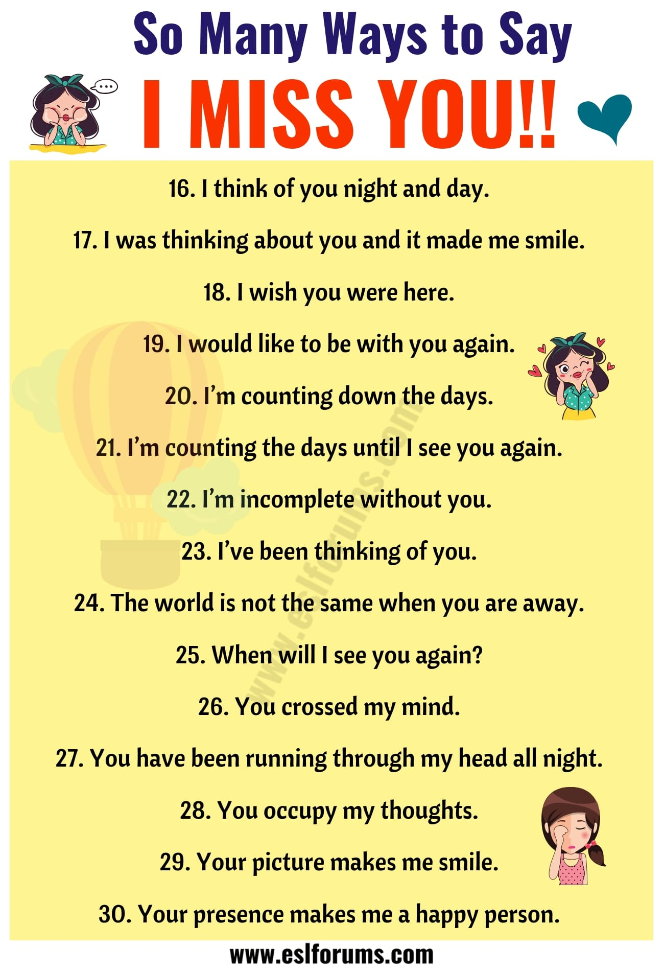I Miss You Quotes 30 Romantic Ways To Say I Miss You In English