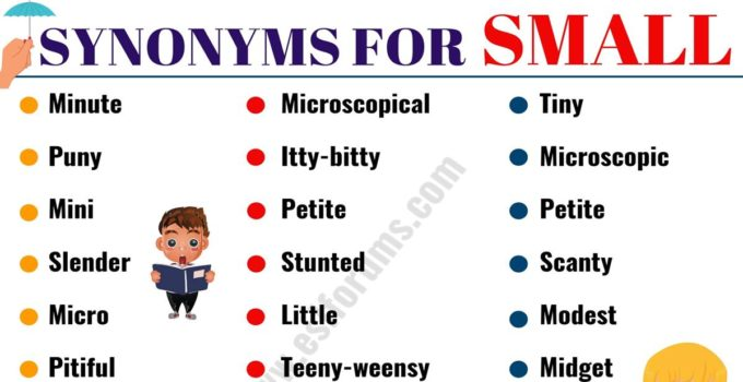SMALL Synonym: 25 SMALL Synonyms with Examples 8
