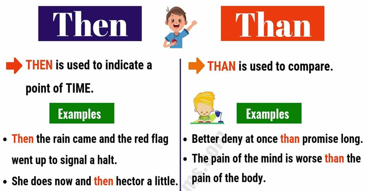 THEN vs THAN: What's the Difference Between Than vs Then? 1