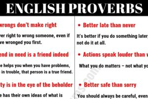 Top 30 English Proverbs and Their Meanings Everyone Should Learn! 8