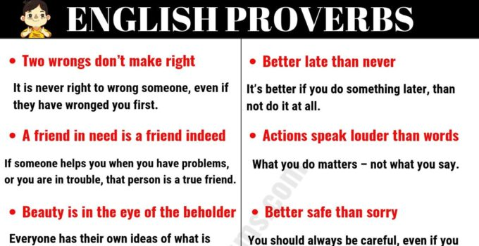 Top 30 English Proverbs and Their Meanings Everyone Should Learn! 2