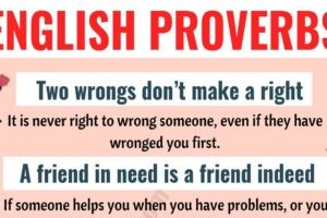Proverbs: Top 30 English Proverbs and Their Meanings! 12
