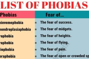 List of Phobias: Learn 105 Common Phobias of People around the World 10