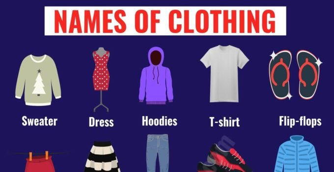 Types of Clothing: Useful List of Clothing Names with the Picture 3
