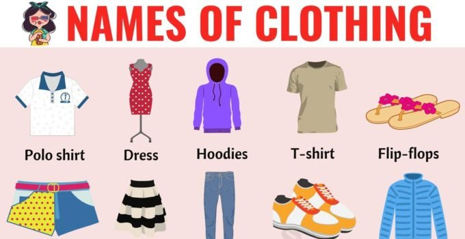 Types of Clothing: Useful List of Clothing Names with the Picture - ESL  Forums