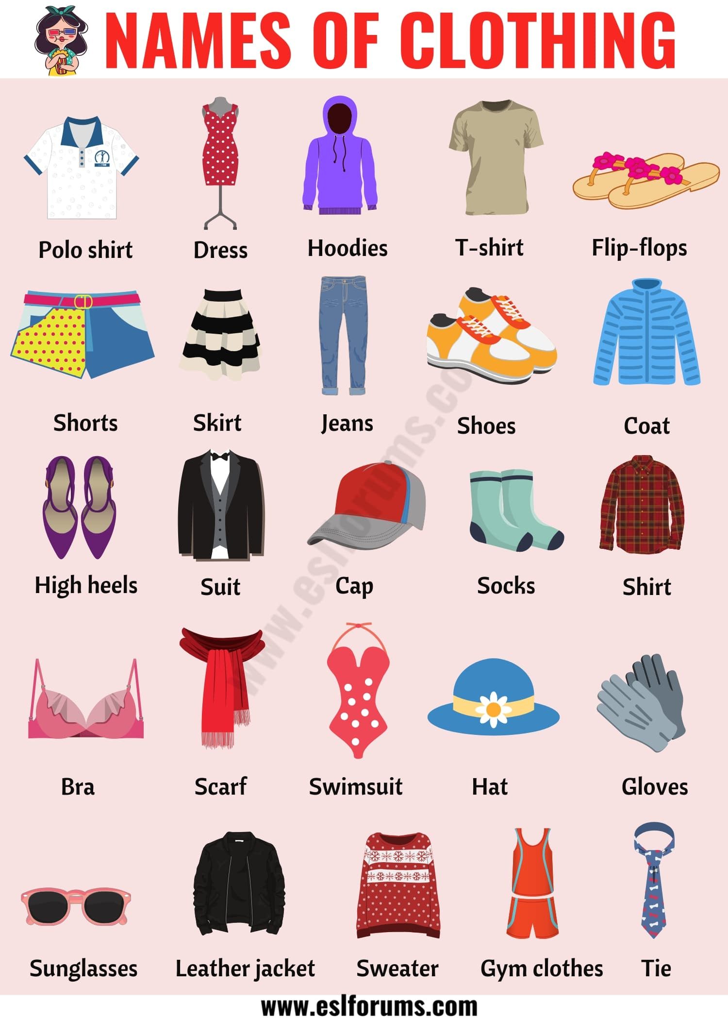 Types of Clothing: Useful List of Clothing Names with the Picture