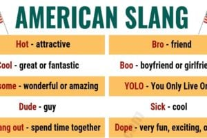 American Slang: List of 25 Essential American Slang You Shouldn't Miss! 13