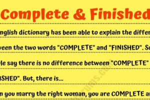 Funny Story: What's the Difference between Complete & Finished?^^ 37