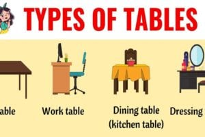 Types of Tables: 25+ Different Types of Tables in English 38