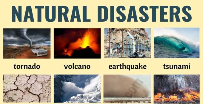 Natural Disasters: Different Types of Natural Disasters with ESL Pictures 1