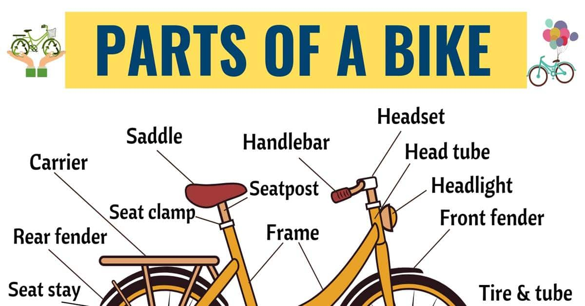 Bicycle Parts: 25+ Important Parts of a Bicycle with ESL Picture 1
